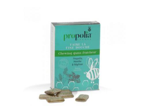 Kauwgom met propolis en pepermunt