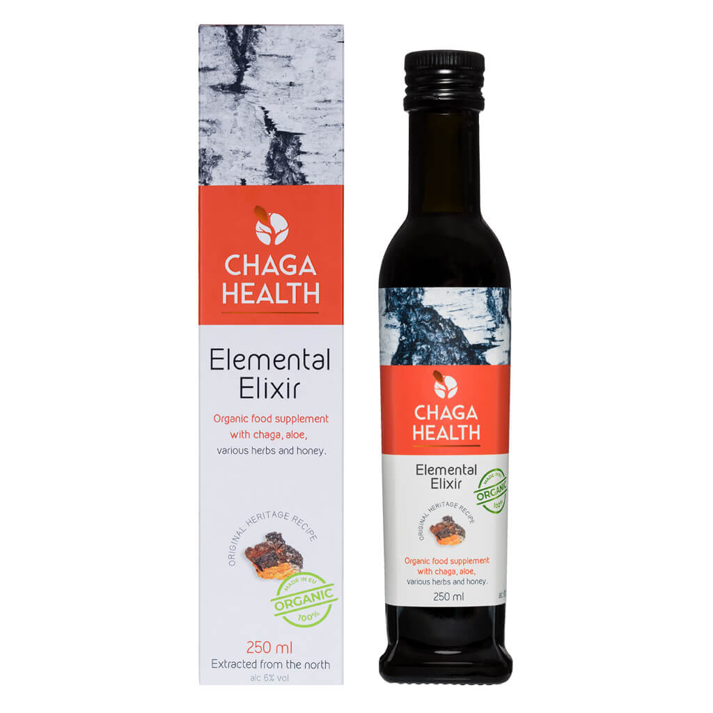 Chaga Health Elemental Elixer Chaga en Aloe vera