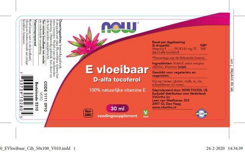 Now vitamine E druppels