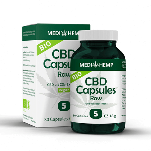 Medi Hemp CBD Capsules RAW 5