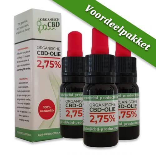Organische CBD olie 2,75 % | 10 ml (3 stuks)