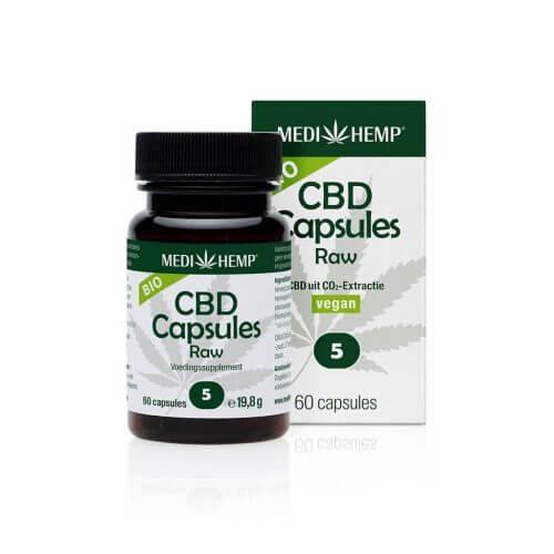 Medihemp CBD Capsules RAW 5 %